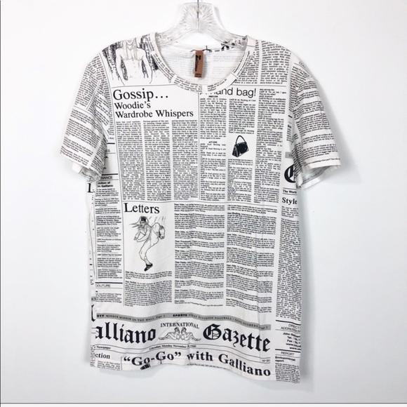 b2d36def John Galliano Tops - John Galliano Newspaper Shirt
